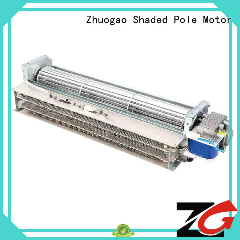 Customized size electric heater hot air blower cross flow fan with mica heating element