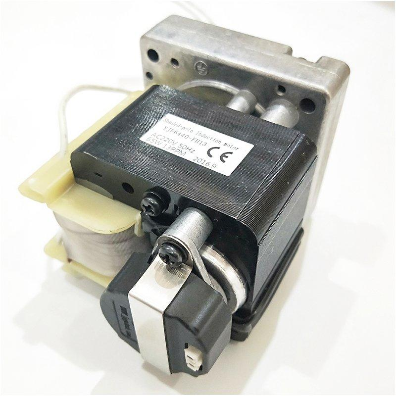 Customized ac gear motor with hall sensor for animal feeding system,14RPM