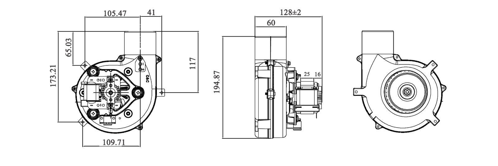 Wholesale box sensor centrifugal fan Zhuogao Brand