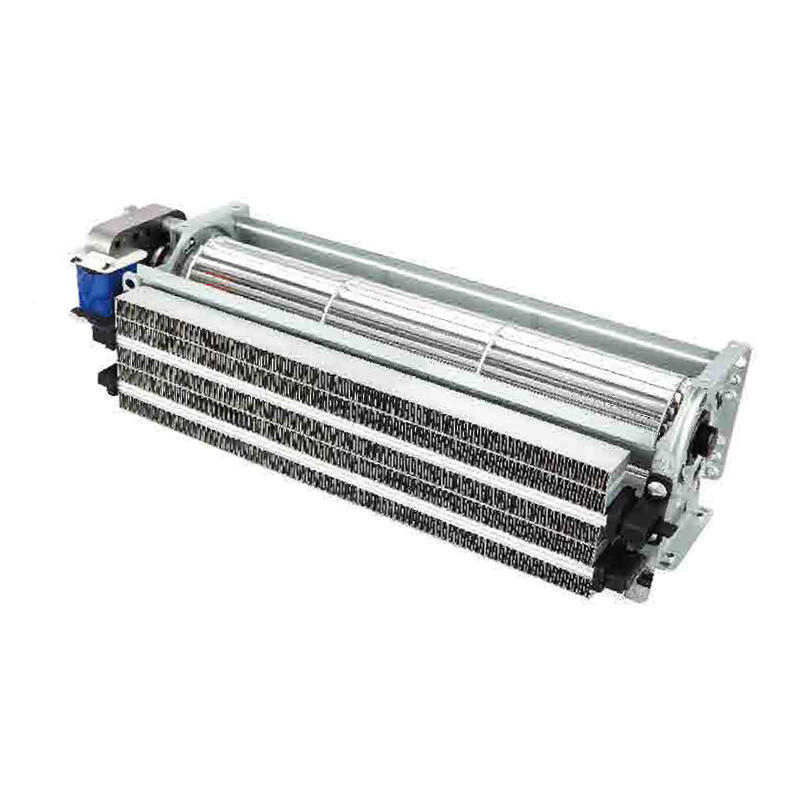 Electric fireplace heater cross flow fan with PTC heating element, Customized size