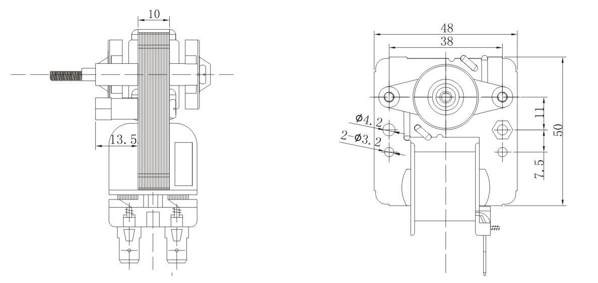 Wholesale volume bathroom exhaust fan motor Zhuogao Brand