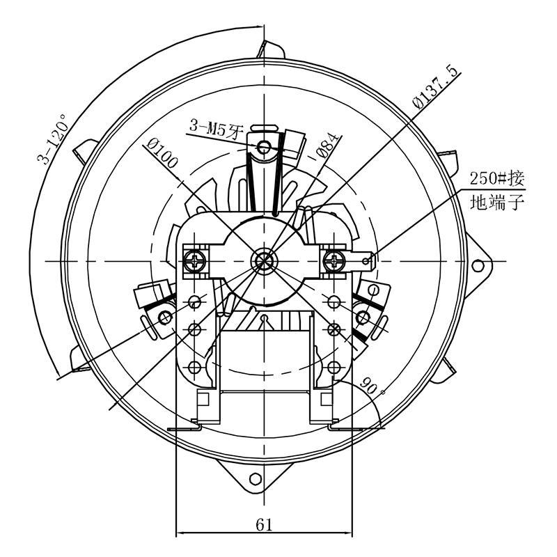 Wholesale oven shaded pole fan motor Zhuogao Brand