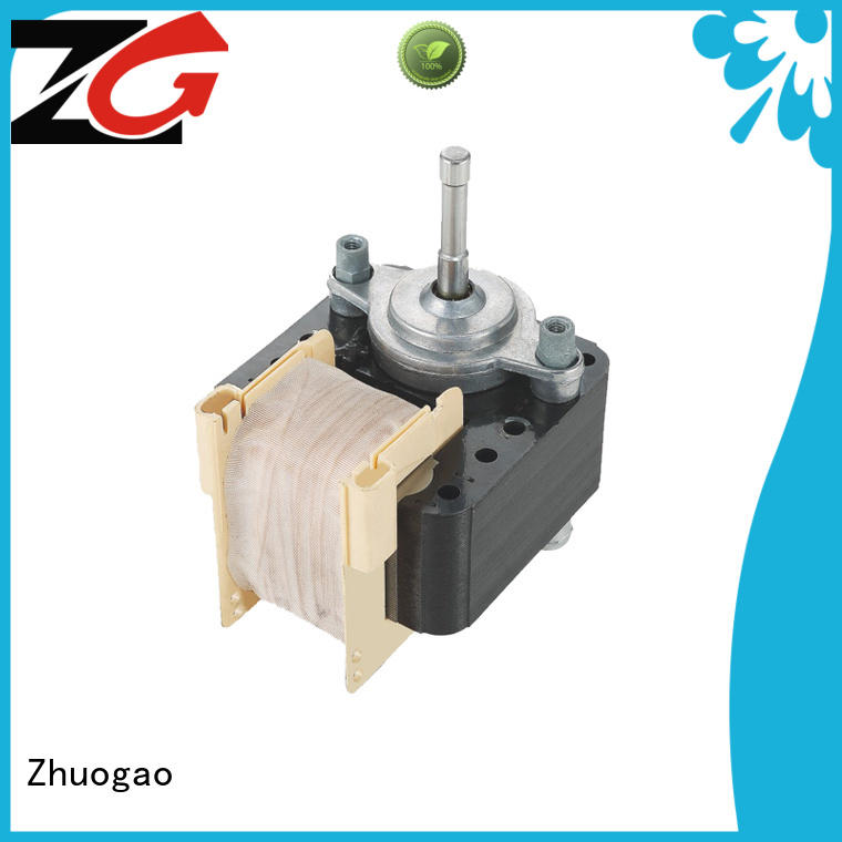 Zhuogao air shaded pole fan motor manufacturer for cooler