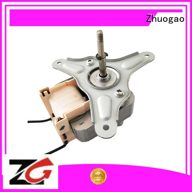 Zhuogao Brand fan stainless shaded pole fan motor gel factory