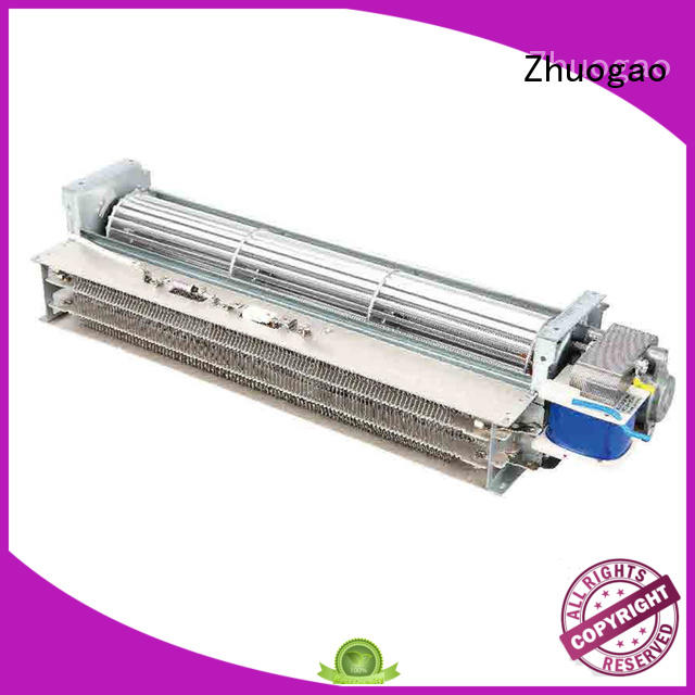 Zhuogao Brand mica air heating electric fireplace with fan heater
