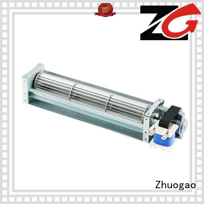 size cross flow fan suppliers air ptc Zhuogao Brand
